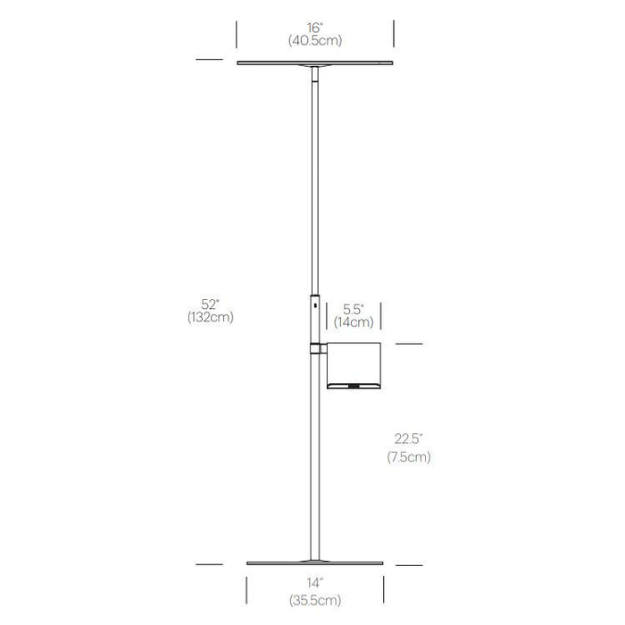 Circa Floor Lamp with Pedestal Table - Diagram