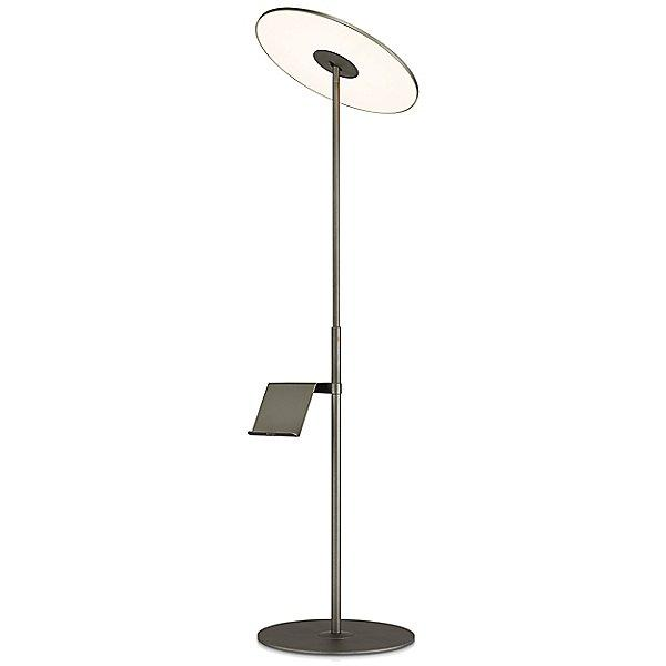 Circa Floor Lamp with Pedestal Table - Graphite