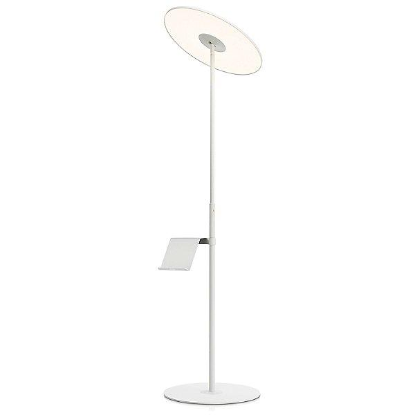 Circa Floor Lamp with Pedestal Table - White