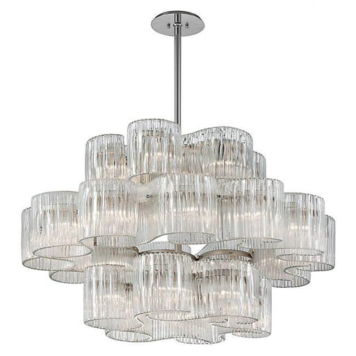 Circo Entry Pendant - Satin Silver Leaf Finish
