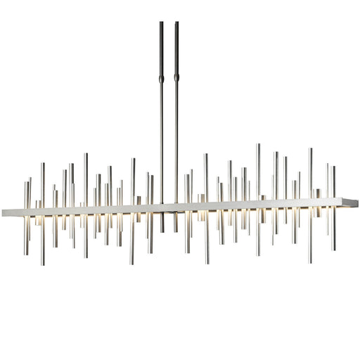 Cityscape Large LED Linear Suspension - Burnished Steel/Vintage Platinum