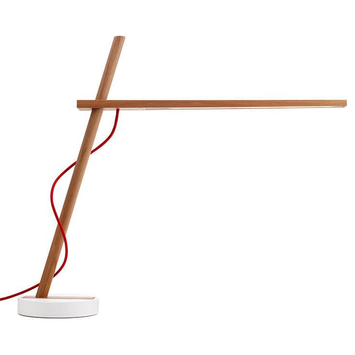 Clamp Table Lamp - White Oak