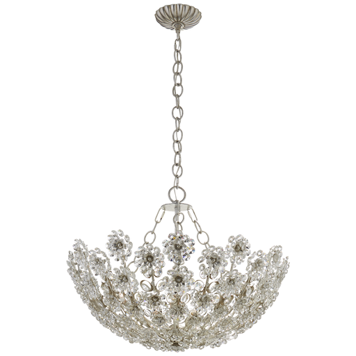 Claret Short Chandelier - Burnished Silver Leaf Finish