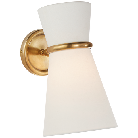 Clarkson Small Single Pivoting Sconce - Hand-Rubbed Antique Brass
