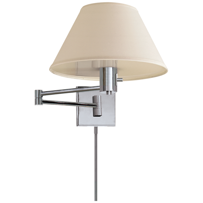 Classic Swing Arm Wall Lamp - Polished Nickel Finish