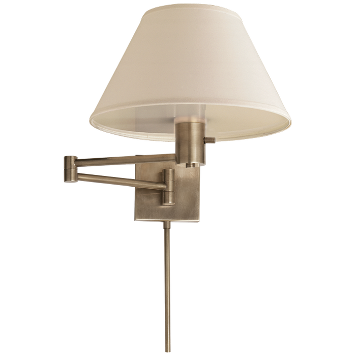 Classic Swing Arm Wall Lamp - Antique Nickel Finish