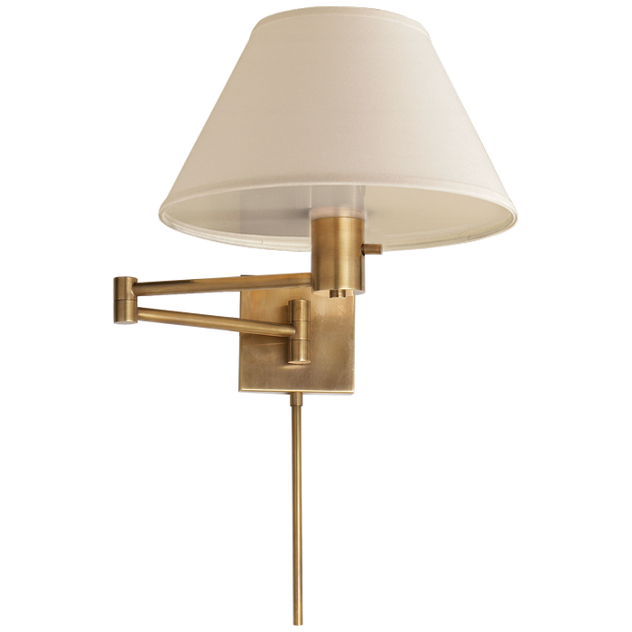 Classic Swing Arm Wall Lamp - Hand Rubbed Antique Brass Finish