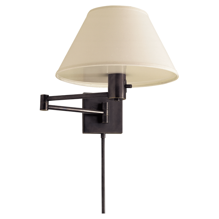 Classic Swing Arm Wall Lamp - Bronze Finish