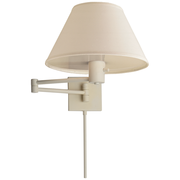 Classic Swing Arm Wall Lamp - White Finish