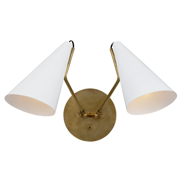 Clemente Double Sconce - Matte White Finish