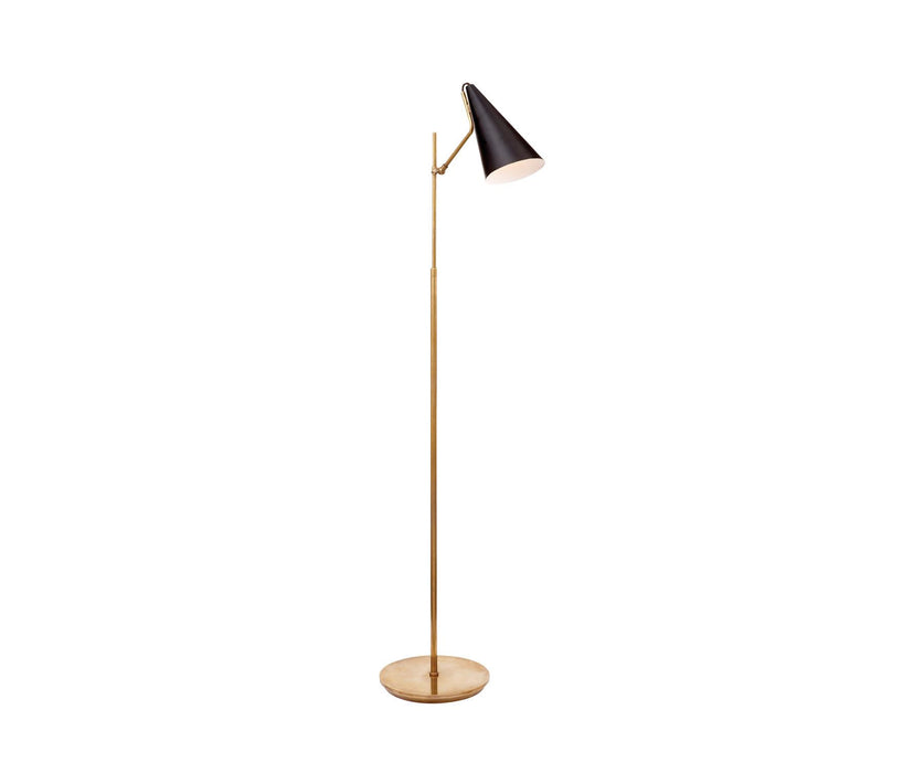 Clemente Floor Lamp - Brass with Black Finish