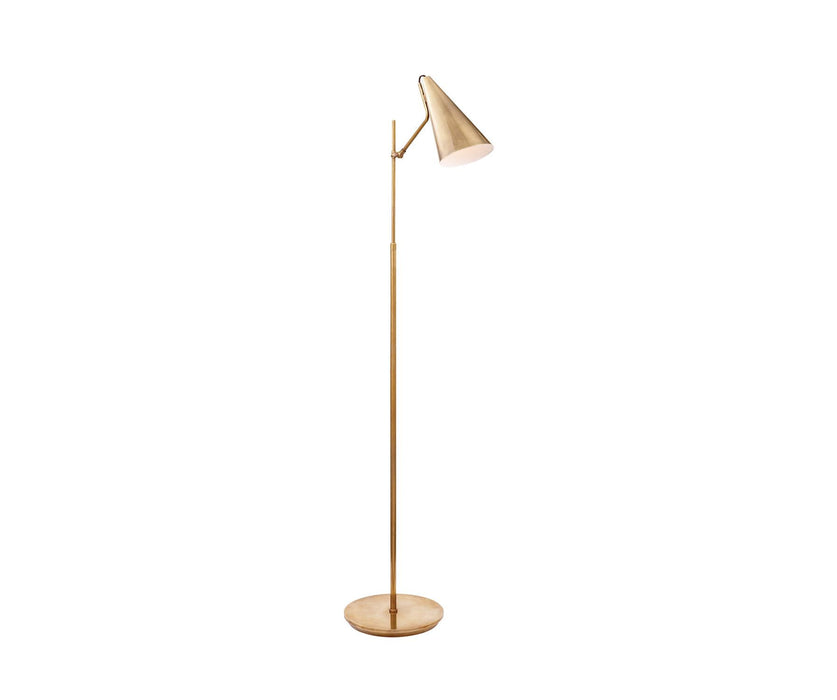 Clemente Floor Lamp - Hand-Rubbed Antique Brass Finish