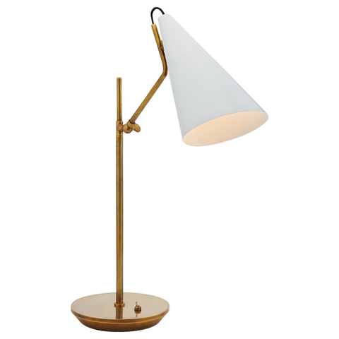 Clemente Table Lamp White/Hand Rubbed Antique Brass