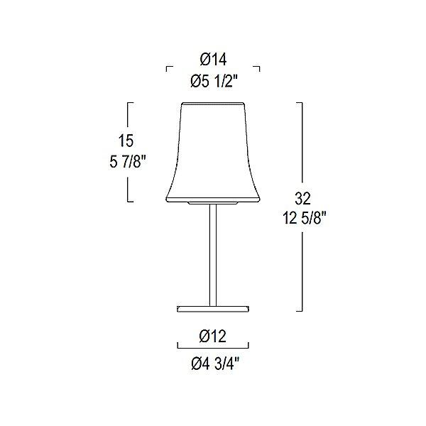 Cloche Table Lamp - Diagram