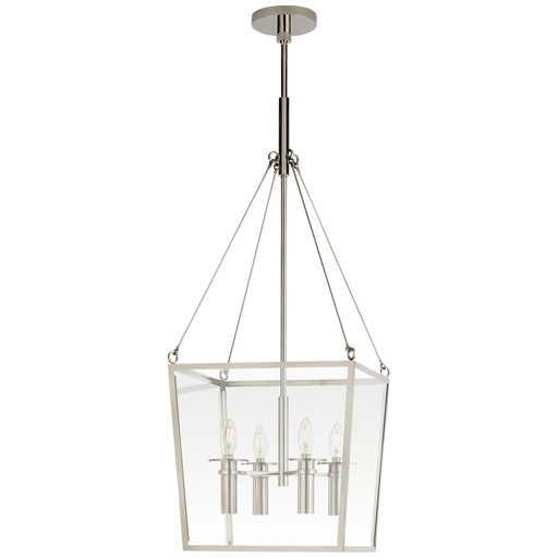 Cochere Medium Lantern - Polished Nickel
