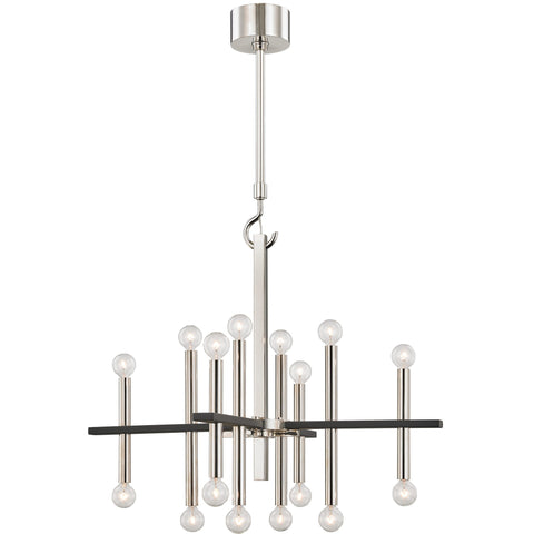 Colette Chandelier - Polished Nickel