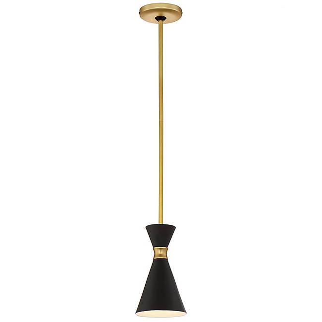 Conic Mini Pendant - Honey Gold with Black Finish