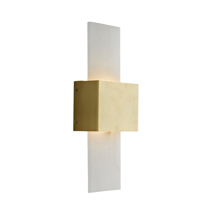 Constance Sconce - Antique Brass Finish Snow Marble