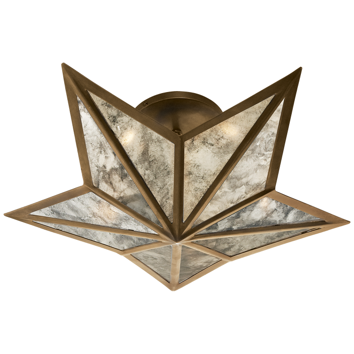 Constellation Small Flush Mount - Hand-Rubbed Antique Brass Finish