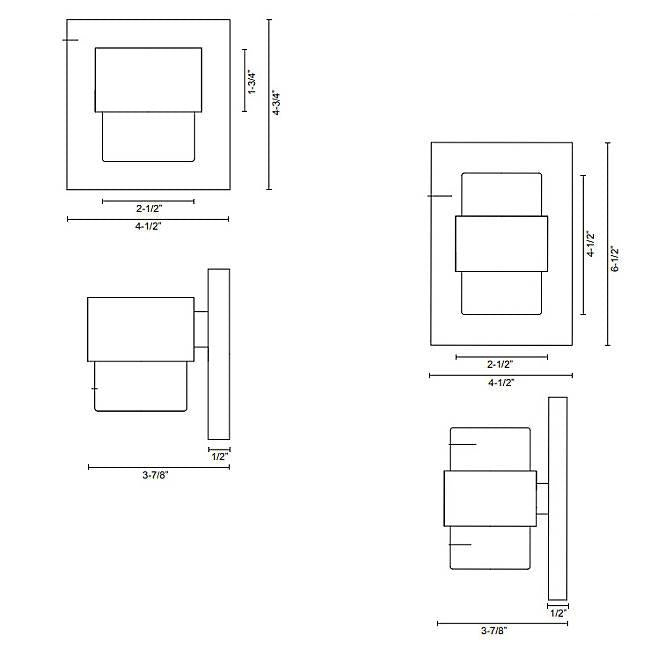 Copenhagen LED Outdoor Wall Sconce - Diagram