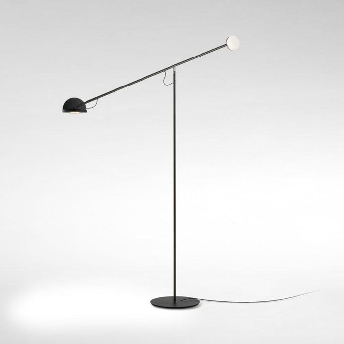 Copernica P LED Floor Lamp - Graphite/Black/Matte Chrome Finish
