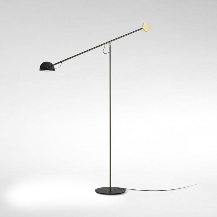 Copernica P LED Floor Lamp - Graphite/Black/Gold Finish