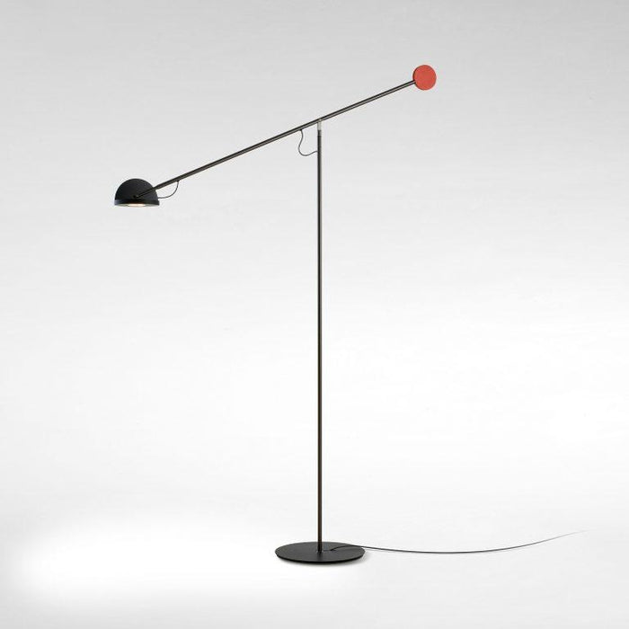 Copernica P LED Floor Lamp - Graphite/Black/Red Finish