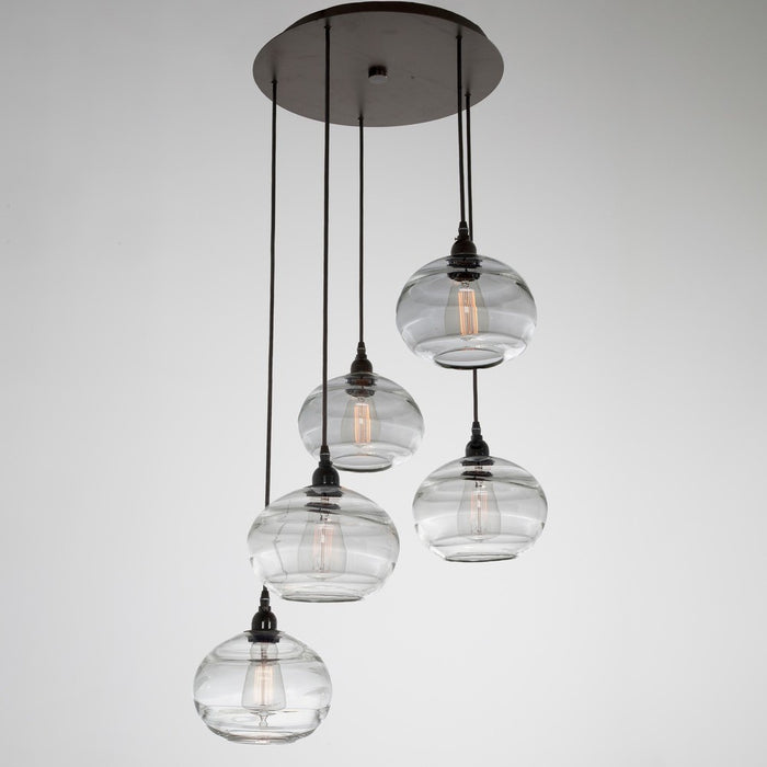 Coppa 5-Light Multipoint Pendant - Matte Black/Optic Clear