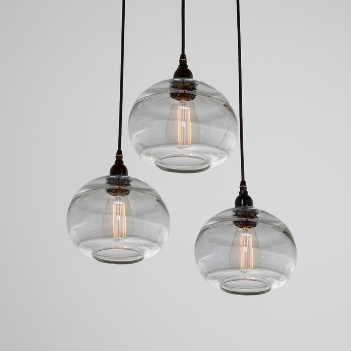 Coppa 3-Light Multipoint Pendant - Matte Black/Optic Clear
