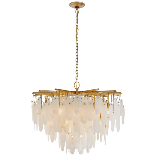 Cora Medium Waterfall Chandelier - Antique Burnished Brass