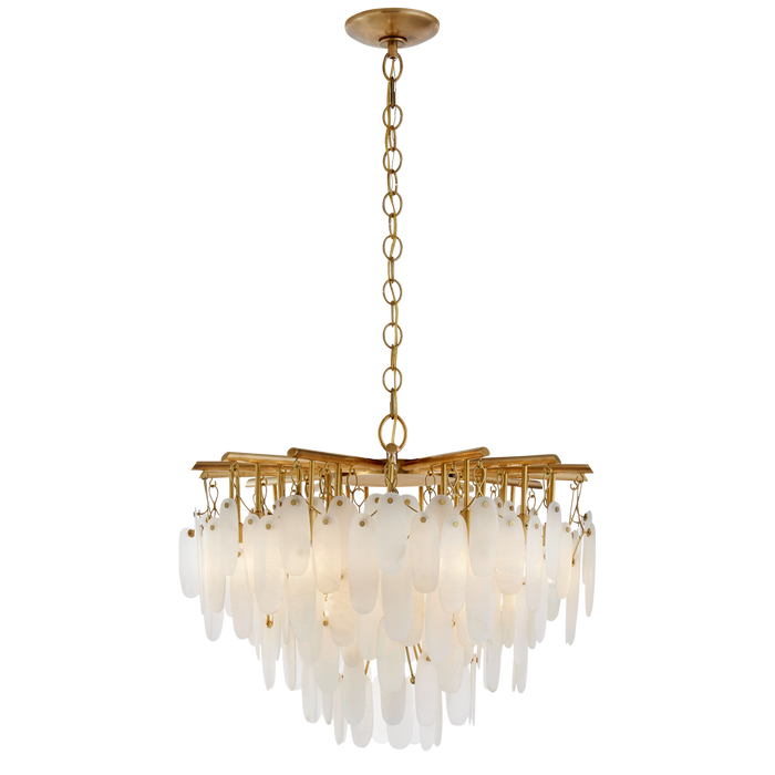 Cora Small Waterfall Chandelier - Antique Burnished Brass