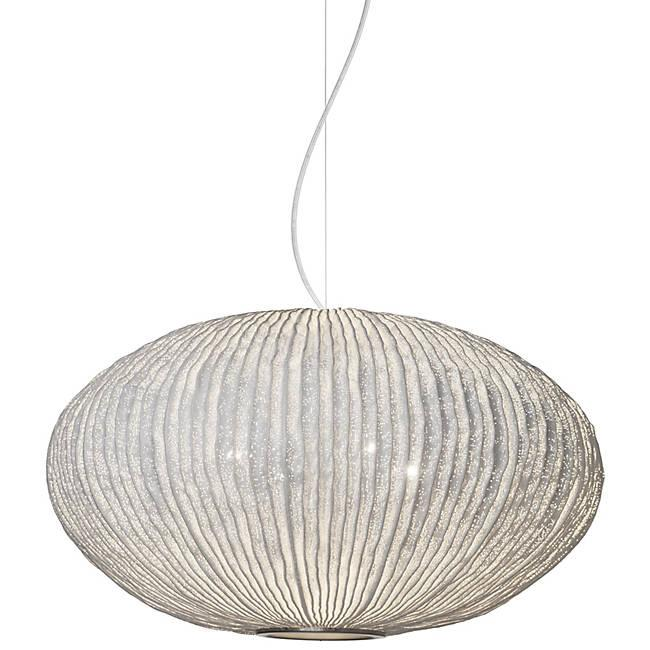 Coral Seaurchin Large Pendant - White Finish