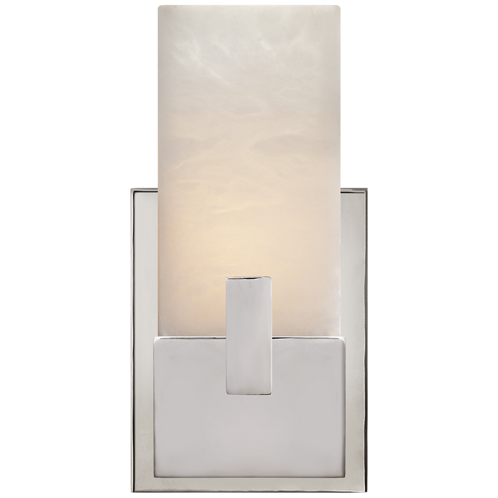 Covet Short Clip Bath Sconce - Polished Nickel