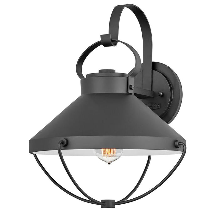 Crew Large Outdoor Wall Sconce - Black Finish