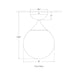 Cristol Small Single Flush Mount - Diagram