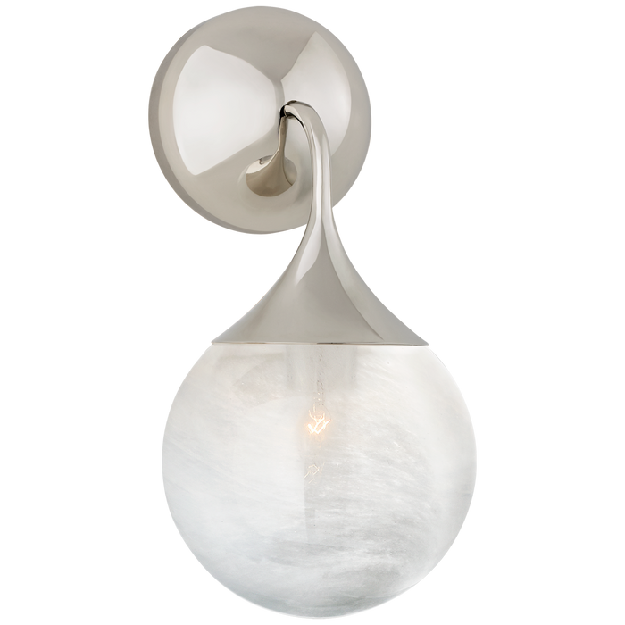 Cristol Small Single Sconce - Polished Nickel Finish