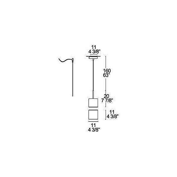 Cubi 11 Pendant Light - Diagram