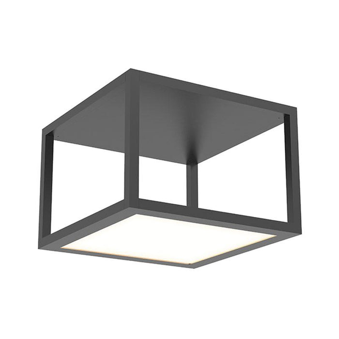 Cubix Single Medium LED Flush Mount - Satin Black Finish