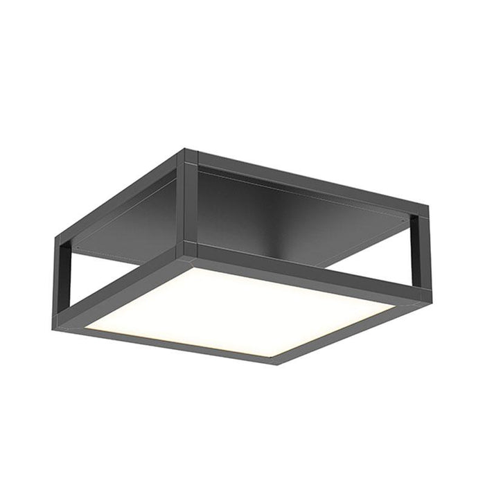 Cubix Single Shot LED Flush Mount - Satin Black Finish