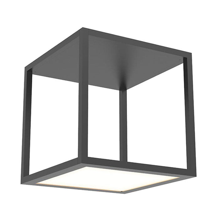 Cubix Single Large LED Flush Mount - Satin Black Finish