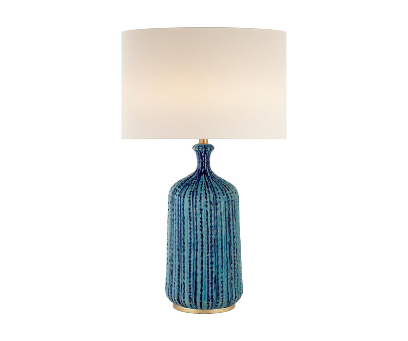 Culloden Table Lamp - Pebbled Aquamarine