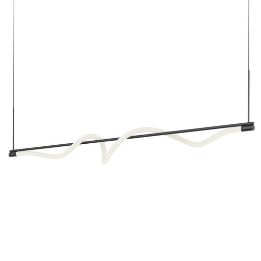 Cursive Linear Pendant - Black Finish