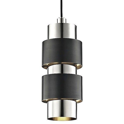 Cyrus Pendant Light Polished Nickel/Old Bronze