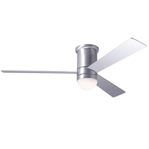 Cirrus Flush DC Ceiling Fan - Brushed Aluminum (LED Light)