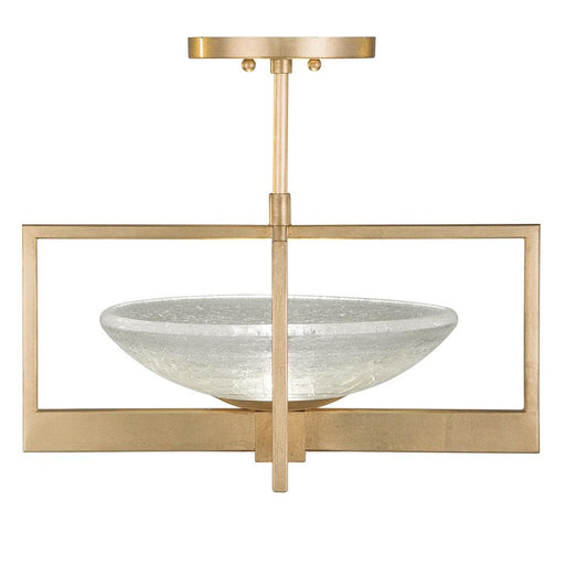 Delphi Semi Flush Mount - Gold Leaf