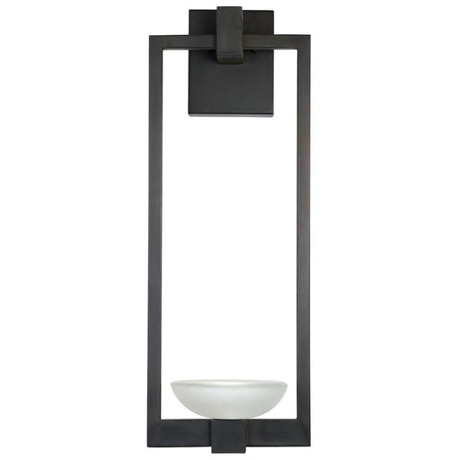 Delphi Large Outdoor Sconce - Black Iron