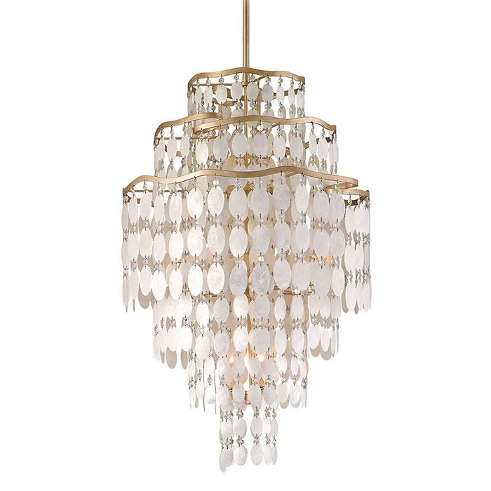 DOLCE CHANDELIER - Champagne Leaf Finish