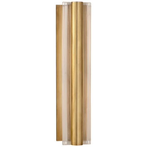 Daley Medium Linear Sconce Natural Brass
