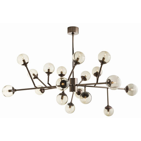 Dallas Medium Chandelier Brown Nickel
