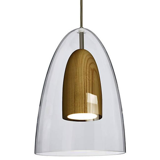 Dano LED Mini Pendant - Clear, Dark Wood, Bronze